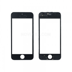 A+ Front Screen Glass Lens + Frame for iPhone 5s - Black