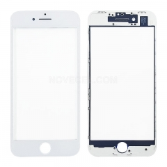 A+Front Glass with Frame for iPhone 8 - White(Super High Quality)