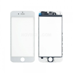 (Super High Quality)Front Screen Glass Lens with LCD Digitizer Frame for iPhone 6(4.7 inches) - White