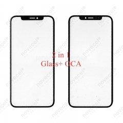 A+ Front Screen Glass Lens + OCA Replacement for iPhone X XS XS MAX